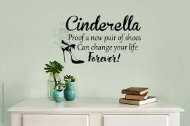 Free Shipping Cinderella Wall Decal Cinderella Proof That Etsy