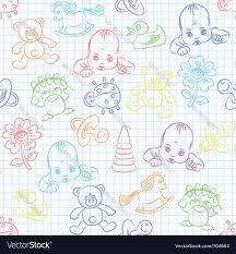 cute baby wallpaper royalty free vector