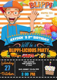 Blippi Birthday Invitation Fiesta De Cumpleanos Para Ninos