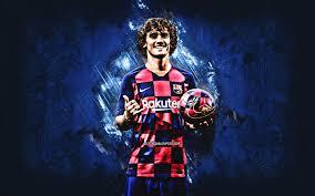 تحميل خلفيات أنطوان جريزمان صورة برشلونة 2020 برشلونة لاعبي كرة