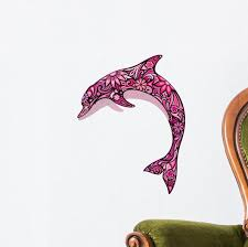 Pink Dolphin Wall Decal Wallmonkeys Com