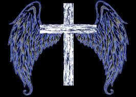 angel wings with cross fantasy