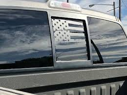 Ford F150 Back Middle Window Distressed American Flag Decal 2004 2014 Ebay