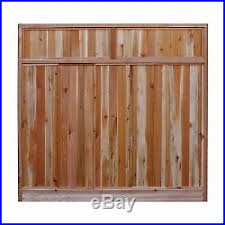 Signature Development Western Red Cedar Solid Lattice Top Wood Fence Panel Kit Fence Kit New