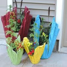 recycled towel plant pots diy plant pot