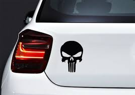 Buy Decal Vinyl Punisher Skull Design Vinyl Art Car Window Jet Ski Angry Tradition Graffiti Mexican 5 X 4 71 Inches Matte Metallic Gold In Cheap Price On Alibaba Com