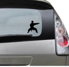 Vinyl Car Decal Karate Taekwondo Kung Fu Sports Etsy