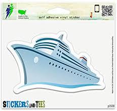 Amazon Com Cruise Ship Vinyl Car Bumper Window Sticker 3 X 2 Automotive