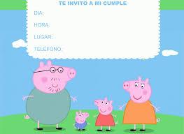 Invitaciones De Peppa Pig Para Imprimir Con Imagenes