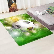 3d Football Carpet Area Rugs Memory Faom Crystal Velvet Smooth Carpet Boys Kids Room Play Mat Big Home Living Room Carpets Carpet Aliexpress