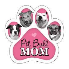 Pitbull Mom Car Magnet Friends To The Forlorn Pitbull Rescue