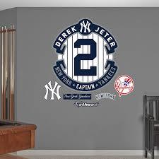 Fathead Derek Jeter Logo New York Yankees Mlb Real Big Wall Decal Wall Decals Amazon Canada