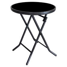 patio side table round folding