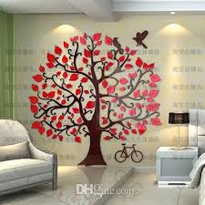 Fashion Removable Acrylic 3d Tree And Bird Wall Sticker Paper For Living Room Wall Decals Home Decor Decorative Decals Decorative Decals For Walls From Shouya2018 71 75 Dhgate Com