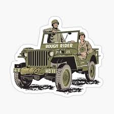 Rough Rider Jeep Stickers Redbubble