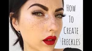 how to make freckles makeup saubhaya