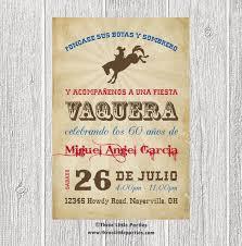 Invitacion De Vaquero Espanol Fiesta Vaquera Invitacion En