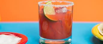 smoky blood orange mezcal margaritas