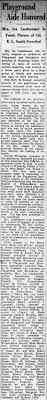 Iva Reynolds Landmesser Honored for Work w/ Playground Assoc. 1946 -  Newspapers.com