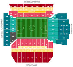 anfield stadium a plan of sectors and