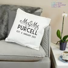 mr mrs newlywed cushion perfect