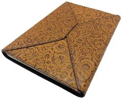 embossed envelope leather journal in