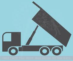 Unloading Dump Truck Vinyl Decals Boys Room Wall Art Sticker Decor
