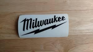 Milwaukee Tool Box Decal Logo Fishing Vinyl Decal 22 Colors 14 Etsy In 2020 Milwaukee Tool Box Milwaukee Tools Window Stickers