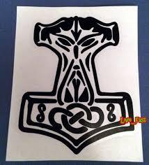 Thors Hammer Decal Sticker Vinyl Mjolnir Asatru Pagan Odin Etsy
