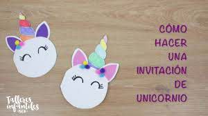 Como Hacer Invitacion De Unicornio Youtube