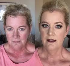 pictures of women with and without makeup