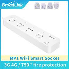 Broadlink MP1 Wifi USB Cắm Điện Dây Điều Khiển Từ Xa Có Sẵn 3 Ổ Cắm Ổ Cắm  Điện Dành Cho Nhà Thông Minh tự Động Hóa|