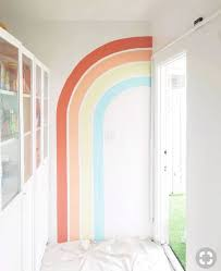 Murals Rainbow Mural Kids Room Paint Kids Room Wall Nursery Decor Wall Art