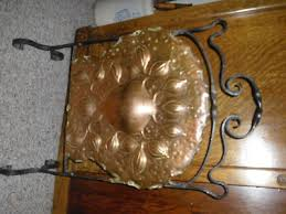 victorian fireplace screen tooled