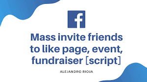invite all your facebook friends to