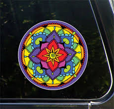 The Decal Store Com By Yadda Yadda Design Co Clr Car Floral Mandala Vinyl Car Decal C 2016 Yydc 5 Inch Dia