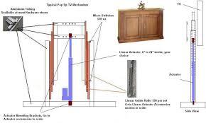 diy tv lift actuators tv lift cabinet