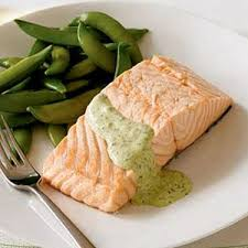 poached salmon with dill horseradish