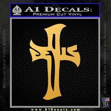 Jesus Cross Crucifix Decal Sticker D1 A1 Decals