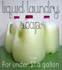 liquid laundry soap for just 1 per gallon