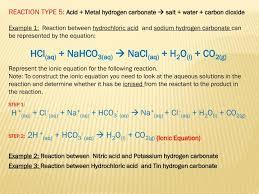 sodium hydrogen carbonate and