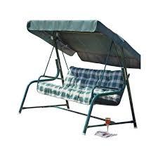 tubular 3 seater garden swing chair