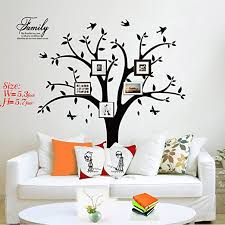 Amazon Com Family Tree Wall Decal Photo Tree Wall Decal Stickers Living Room Home Decal Bed Baby Room Wall Decals Memory Tree And Birds Wall Stickers Butterfly Home Kitchen
