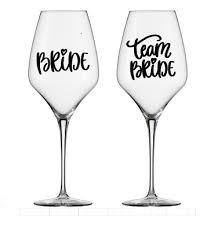 wedding hen party wine glass sticker