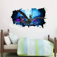 Amazon Com How To Train Your Dragon Wall Sticker Hiccup Toothless Broken Wall Decal Vinyl Art Sticker 120cm Width X 60cm Height Baby