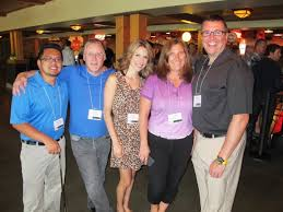 From left, at the 12th Annual Safeway Foundation Charity Golf Classic  registration and reception July 24,