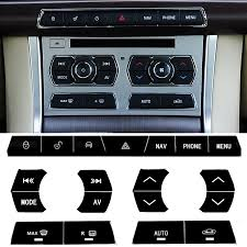 Car Interior Accessories Black Center Console Button Sticker For Jaguar Xf Car Styling Car Stickers Aliexpress
