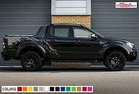 Decal Graphic Sticker Vinyl Side Bed Mud Splash Kit For Ford Ranger T6 Offroad Ebay