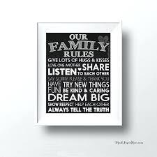 House Rules Wall Art 6 Family Sign Printable Chalkboard Kitchen Decor Digital Playroom Kids Room Home Housewarming Gift Ideas 2018 Si Toqueglamour