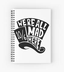 Decals Stickers Vinyl Art Home Garden We Re All Mad Here Mad Hatter Hat Alice In Wonderland Car Sticker Vinyl Decal Adrp Fournitures Fr